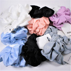 2 Pack Lg. Size Mixed Color Linen Soft Fabric Scrunchies  .55 per pk