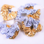 2 Pack Lg. Size Gold & Silver Metallic Scrunchies  .55 per pk
