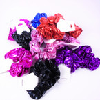 2 Pack Lg. Size Mix Color  Metallic Scrunchies  .55 per pk