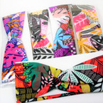 "Trending  3""  Mixed Colorful  Print Stretch Headbands 12 per pk (789) .54 each"