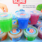 "2"" X 3"" Colorful Shiney Marble  Super Slime  12 per display .58 each"