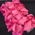 "SPECIAL 5"" Gator Clip Bows Fusia Color 24 per pk ONLY .32 each"