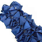 "SPECIAL 5"" Gator Clip Bows Navy Blue  Color 24 per pk ONLY .32 each"