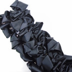 "SPECIAL 5"" Gator Clip Bows Black  Color 24 per pk ONLY .32 each"
