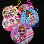 """4.5"""" Zipper Bag w/ Clip Cute Girl Theme Coin Purse .56 each"""