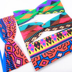 "Trendy 3""  African Clothes Print Stretch Headbands 12 per pk (1198)  .54 each"