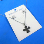 Silver Stainless Steel ANGEL Pend. Necklace   12 per pk  .58 each set