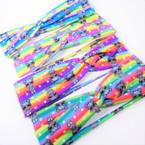 "Trendy 2.5""  Cute Girl Theme Print Kids Stretch Headbands (1205)  12 per pk .54 each"