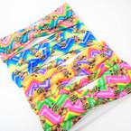 "Trendy 2.5""  Cute Girl Theme Print Kids Stretch Headbands (1206K)  12 per pk .54 each"