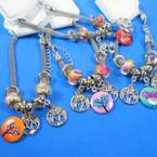 Pandora Style Charm Bracelets Silver w/ Tree of Life Theme Mixed Colors   .56 each