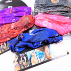 Multifunctional Scarf/Headwear/Mask Paisley Print Theme 6 colors  .58 each