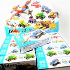 Construction Truck Theme DIY Block Set 12 per display Mixed Styles .60 each set
