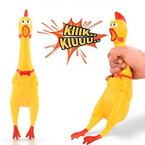 "14"" Squeeze Sound Screaming Chicken Squeeze Sound Toy  sold by 6 pcs $ 1.50 each"