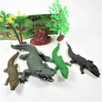 7 Pc Reptile Gator Set in Poly Bags  sell by 12 sets $ 1.25 per set