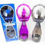 "10.5"" Battery Operated Spray Water Fan  sold by 4 fans per sale  $ 2.95 ea"
