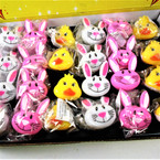 ON SALE Great Quality Flashing Easter Theme Gummy Rings 24 per bx @ $ .40 ea