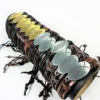 NEW Jesus Fish Theme Teen Leather Bracelets   .54 ea