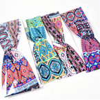 "Trending  3""  Mixed Colorful  Print Stretch Headbands 12 per pk (1010) .54 each"