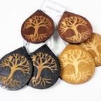 "NEW 2.5""  Wood Earrings Tree of Life Theme    .54 per pair"