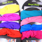 Multifunctional Scarf/Headwear /Face MASK Mixed  Colors  .58 each