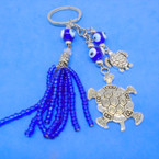 "4"" Triple Line Turtle Theme Keychain w/ Glass Eye Beads .56 each"