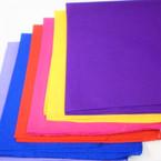 """21"""" Square Cotton Bandana 12 Mixed Colors SOLID No Print  per dz  .52 ea"""