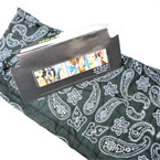 Multifunctional Scarf/Headwear /Face MASK Black Bandana Print  .58 ea