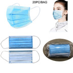 """IN STOCK NOW Disposable Face Mask 3.75"""" X 6.5""""  20 pcs per pack .80 each"""