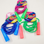 Asst Color Glitter Jump Rope 12 per pk .50 each
