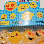 "Novelty 3"" Splat Ball Emoji Theme 12 per display .50 each"