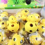 "3"" Super Squishy Yellow DUCKS w/ Multi Color Beads 12 per display bx .58 ea"
