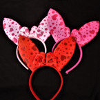 "Cute 3 Color 5.5"" Bunny Ear Novelty Headbands  .58 each"