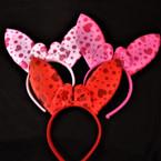 """Cute 3 Color 5.5"""" Bunny Ear Novelty Headbands  .58 each"""
