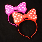 Flashing Novelty Poka Dot Headbands Red/Fusia 12 per pk NOW .62 EA