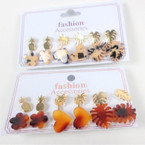 Value Pack 6 Pair Tropical Theme Earrings .54 per set