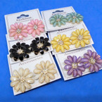 Fashionable Flower Earring w/ Cry. Stone Center .56 per pair