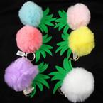 """4"""" Faux Fur Pom Pom Ball Keychain w/ Pineapple Top  .58 each"""