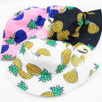 Great Quality Pineapple Theme Bucket Hats 12 per pk $ 3.25 each