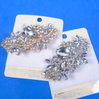 "2.5"" Gold & Silver Fashion Broach Loaded w/ Clear Stones & Crystals 12 per pk .65 each"