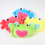 "SO CUTE 4"" Soft Plush CRAB Keychain Mixed colors 12 per pk .58 each"