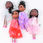 "6"" African American Doll Keychains w/ Fancy Outfit 12 per pk  .58 each"