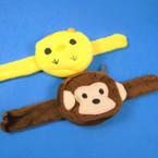 "NEW 3"" Monkey/ Cute Little Chick Face Zipper Coin Purse on Slap Bracelet 12 per pk .60 each"