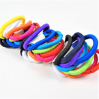 12 Pk Asst Color Elastic Stretch Ponytailers   .56 per set