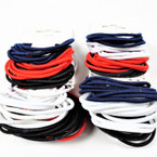 36 Pk  4- Color  Elastic Stretch Ponytailers   .56 per set