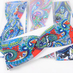 "Trending  3"" Mix Paisley Print  Stretch Headbands 12 per pk (1022) .58 each"