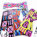 "Trending  3"" Mixed Bright Color Pattern   Stretch Headbands 12 per pk (1151) .58 each"