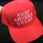 All Red Embroided Keep America Great Baseball Caps sold by pc $ 3.00 per hat