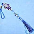 "12"" Hamsa Hand of God Hanger w/ Eye Bead of Protection  & Tassel .56 each"