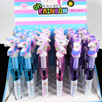 "6"" Super Brite LED Unicorn Theme Ball Pen 36 per display bx .62 each"