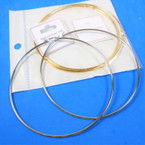 "Stainless Steel 316L 3"" Gold & Silver Hoop  Earrings .75 per pair"